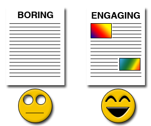 Boring Blog Post vs. Engaging Blog Post