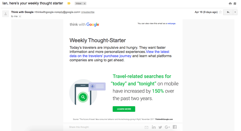 google email keeps users engaged