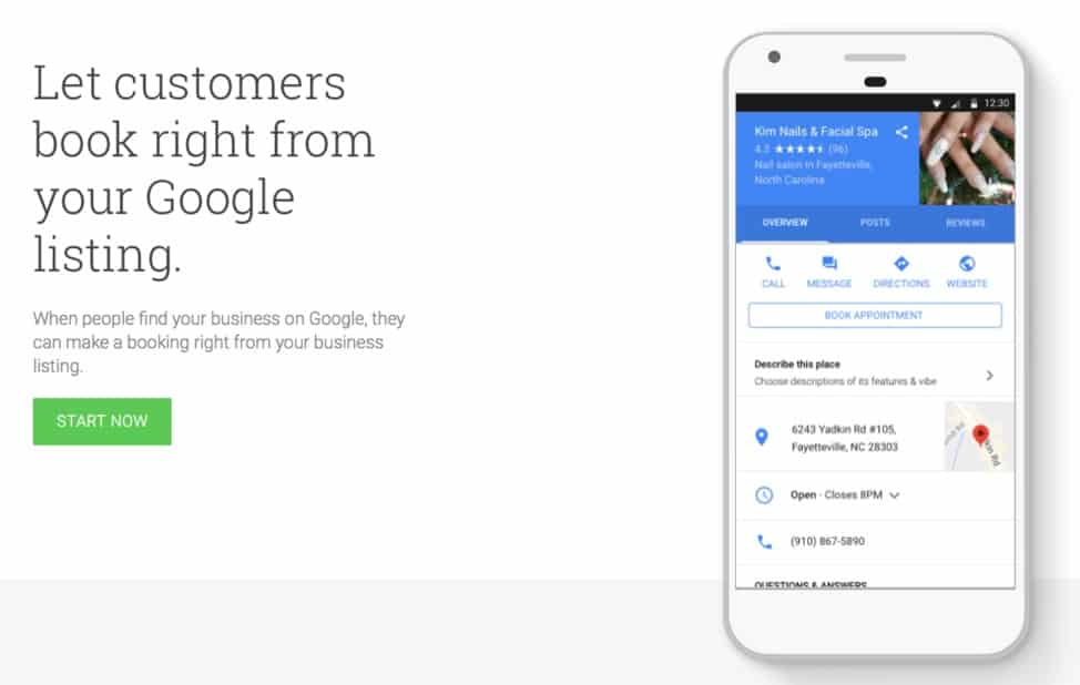 google slide highlighting mobile ability to let users interact with companies directly from google search